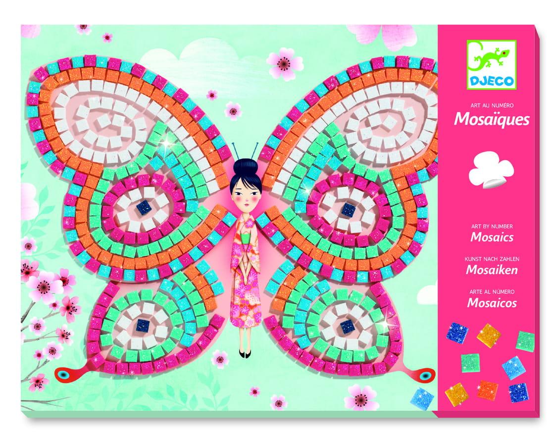 Djeco Zestaw Kreatywny Mozaiki Motylek Nilo Club